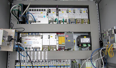 EWID-Schaltschrank mit SCHRAML Hardware